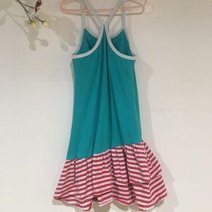 2f2ca0f472795 Garnet Hill Kids Dress Girls Size 7 Pink Pineapple Ruffle Tiered